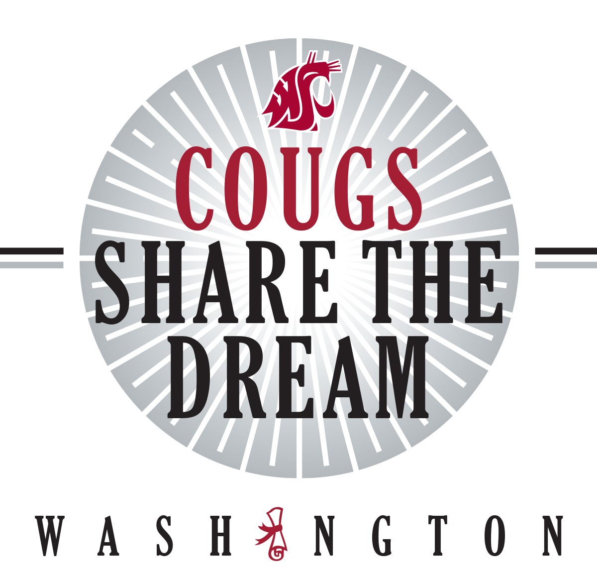 Logo with spirit-mark - Cougs Share the Dream - Washington